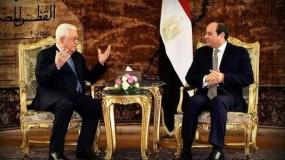 الاتصال الهاتفي بين الرئيس عباس ونظيره المصري