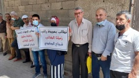 وقفة تضامنية أمام اتحاد الكتاب مع الكاتب شجاع الصفدي للمطالبة بإعادة راتبه المقطوع بتقرير كيدي منذ 14 عاماً
