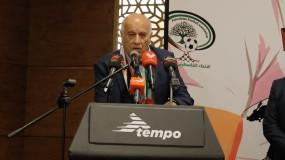 الرجوب يوقع بروتوكول تعاون لاختيار كرة القدم ماركة (Tempo) كرة رسمية للاتحاد