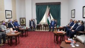 لقاء الرئيس عباس مع المبعوث الأمريكي هادي عمرو