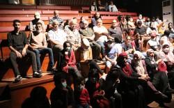 عرض مسرحي لفريق مسرح اللجنة الشعبية للاجئين بمخيم الشاطئ ضمن مسابقة نظمتها مؤسسة أيام المسرح